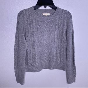 Copper Key Gray Cable Sweater Sz Medium